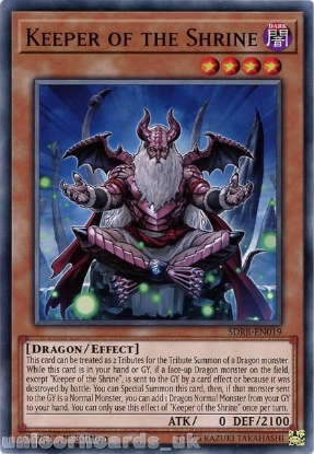 Picture of SDRR-EN019 Keeper of the Shrine 1st Edition Mint YuGiOh Card