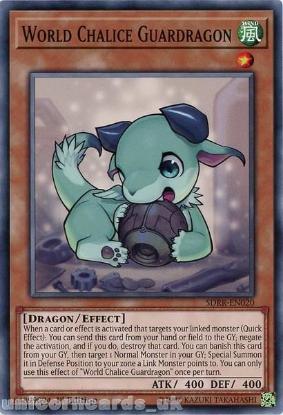 Picture of SDRR-EN020 World Chalice Guardragon 1st Edition Mint YuGiOh Card