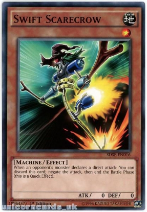 Picture of SDSE-EN016 Swift Scarecrow 1st edition Mint YuGiOh Card