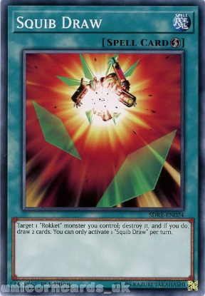Picture of SDRR-EN024 Squib Draw 1st Edition Mint YuGiOh Card