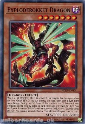 Picture of SDRR-EN004 Exploderokket Dragon 1st Edition Mint YuGiOh Card