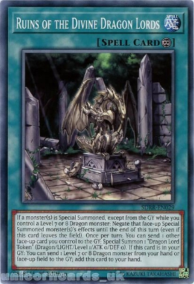 Picture of SDRR-EN029 Ruins of the Divine Dragon Lords 1st Edition Mint YuGiOh Card