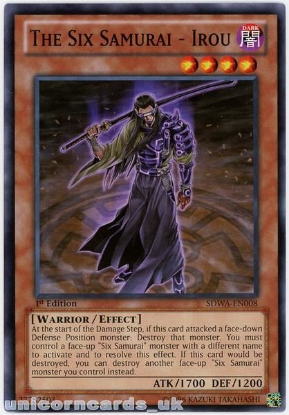Picture of SDWA-EN008 The Six Samurai - Irou 1st Edition Mint YuGiOh Card