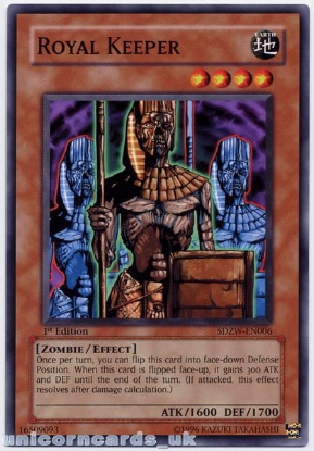 Picture of SDZW-EN006 Royal Keeper 1st Edition Mint YuGiOh Card
