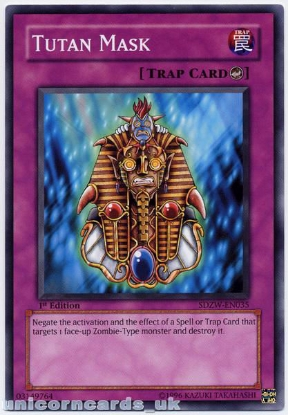 Picture of SDZW-EN035 Tutan Mask 1st Edition Mint YuGiOh Card
