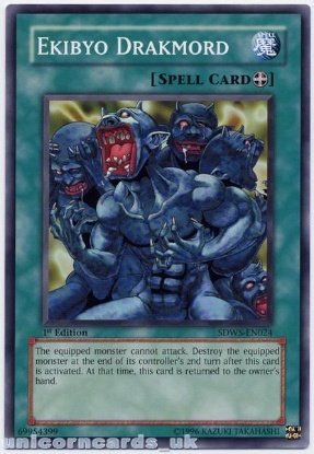 Picture of SDWS-EN024 Ekibyo Drakmord 1st Edition Mint YuGiOh Card