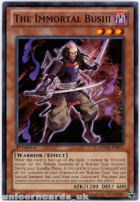 Picture of SDWA-EN014 The Immortal Bushi 1st Edition Mint YuGiOh Card