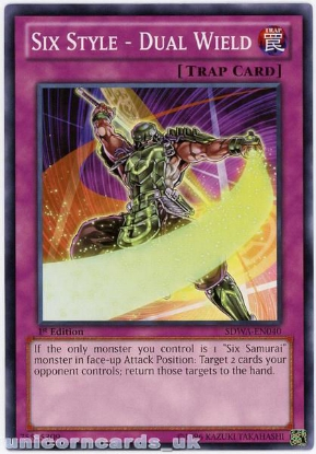 Picture of SDWA-EN040 Six Style - Dual Wield 1st Edition Mint YuGiOh Card