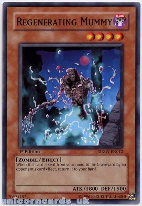 Picture of SDZW-EN012 Regenerating Mummy 1st edition Mint YuGiOh Card