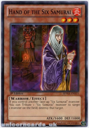 Picture of SDWA-EN015 Hand of the Six Samurai 1st Edition Mint YuGiOh Card