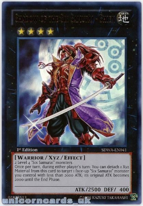 Picture of SDWA-EN041 Shadow of the Six Samurai - Shien Ultra Rare 1st Edition YuGiOh Card