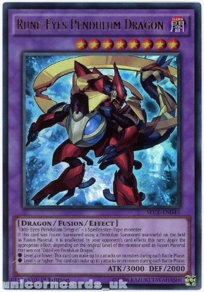 Picture of SECE-EN045 Rune-Eyes Pendulum Dragon Ultra Rare 1st Edition Mint YuGiOh Card