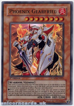 Picture of SDWS-EN001 Phoenix Gearfried Ultra Rare 1st edition Mint YuGiOh Card