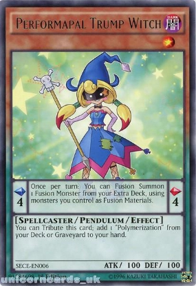 Picture of SECE-EN006 Performapal Trump Witch Rare 1st Edition Mint YuGiOh Card