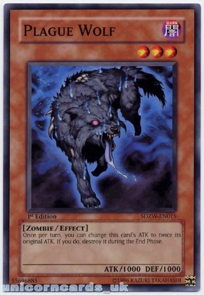 Picture of SDZW-EN015 Plague Wolf 1st Edition Mint YuGiOh Card
