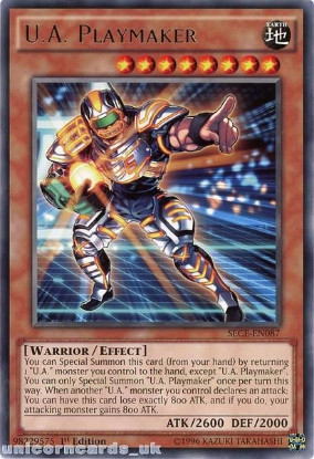 Picture of SECE-EN087 U.A. Playmaker Rare 1st Edition Mint YuGiOh Card