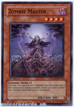 Picture of SDZW-EN016 Zombie Master 1st Edition Mint YuGiOh Card