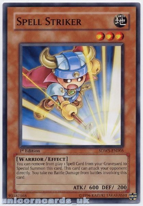 Picture of SDWS-EN005 Spell Striker 1st edition Mint YuGiOh Card