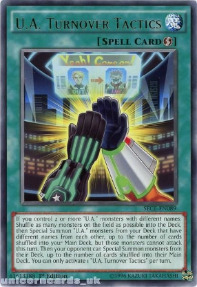 Picture of SECE-EN089 U.A. Turnover Tactics Rare 1st Edition Mint YuGiOh Card
