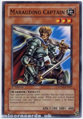 Picture of SDWS-EN007 Marauding Captain 1st edition Mint YuGiOh Card