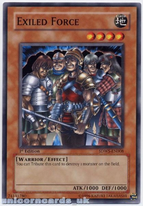 Picture of SDWS-EN008 Exiled Force 1st Edition Mint YuGiOh Card