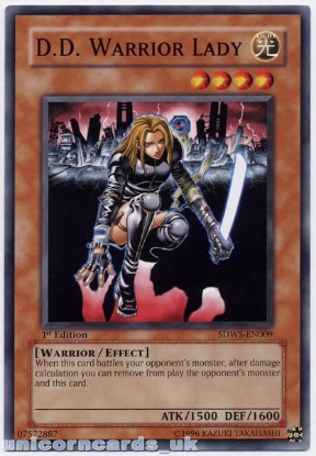 Picture of SDWS-EN009 D.D. Warrior Lady 1st edition Mint YuGiOh Card