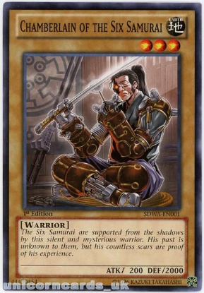 Picture of SDWA-EN001 Chamberlain of the Six Samurai 1st Edition Mint YuGiOh Card