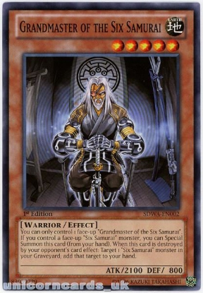 Picture of SDWA-EN002 Grandmaster of the Six Samurai 1st Edition Mint YuGiOh Card