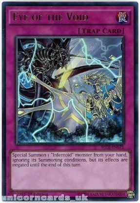 Picture of SECE-EN071 Eye of the Void Ultra Rare 1st Edition Mint YuGiOh Card