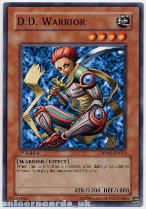 Picture of SDWS-EN013 D.D. Warrior 1st edition Mint YuGiOh Card