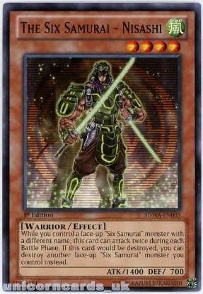 Picture of SDWA-EN005 The Six Samurai - Nisashi 1st Edition Mint YuGiOh Card