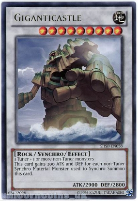 Picture of SHSP-EN058 Giganticastle Rare UNL Edition Mint YuGiOh Card
