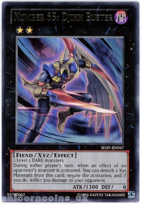 Picture of SHSP-EN047 Number 65: Djinn Buster Rare UNL Edition Mint YuGiOh Card