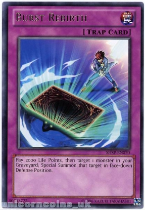 Picture of SHSP-EN070 Burst Rebirth Rare UNL Edition Mint YuGiOh Card