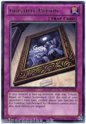 Picture of SHSP-EN078 Grisaille Prison Rare UNL Edition Mint YuGiOh Card