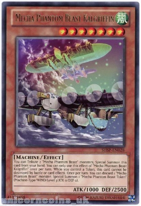 Picture of SHSP-EN028 Mecha Phantom Beast Kalgriffin Rare UNL Edition Mint YuGiOh Card