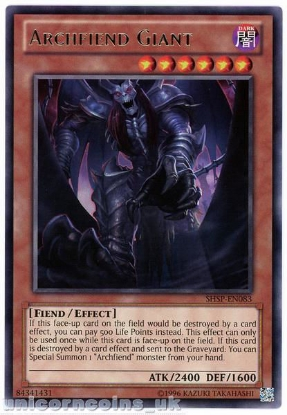 Picture of SHSP-EN083 Archfiend Giant Rare UNL Edition Mint YuGiOh Card