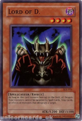 Picture of SKE-016 Lord of D. Common UNL Edition Vintage Mint YuGiOh Card
