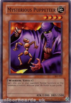 Picture of SKE-017 Mysterious Puppeteer Common UNL Edition Vintage Mint YuGiOh Card