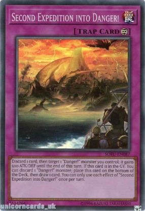 Picture of SOFU-EN087 Second Expedition into Danger! Super Rare UNL Edition Mint YuGiOh Card