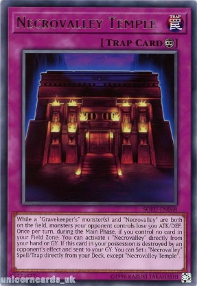 Picture of SOFU-EN068 Necrovalley Temple Rare UNL Edition Mint YuGiOh Card