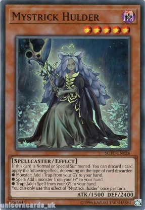Picture of SOFU-EN026 Mystrick Hulder Super Rare UNL Edition Mint YuGiOh Card