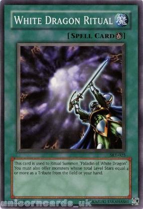 Picture of SKE-025 White Dragon Ritual Common UNL Edition Vintage Mint YuGiOh Card