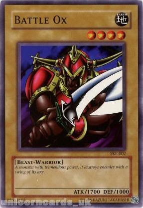 Picture of SKE-002 Battle Ox Common UNL Edition Vintage Mint YuGiOh Card