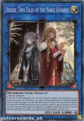 Picture of SOFU-ENSE1 Isolde, Two Tales of the Noble Knights Super Rare Limited Edition Mint YuGiOh Card