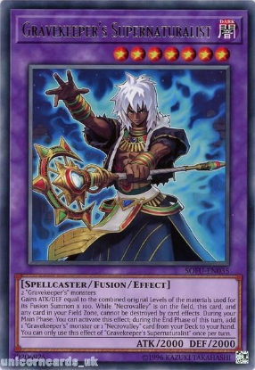 Picture of SOFU-EN035 Gravekeeper's Supernaturalist Rare UNL Edition Mint YuGiOh Card