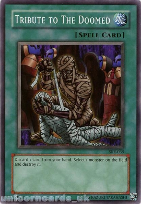 Picture of SKE-035 Tribute to The Doomed Common UNL Edition Vintage Mint YuGiOh Card