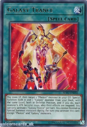 Picture of SOFU-EN056 Galaxy Trance Rare UNL Edition Mint YuGiOh Card