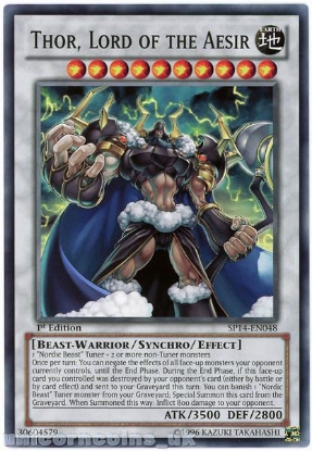 Picture of SP14-EN048 Thor, Lord of the Aesir 1st Edition Mint YuGiOh Card