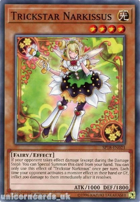 Picture of SP18-EN023 Trickstar Narkissus 1st Edition Mint YuGiOh Card
